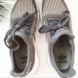adidas Shoes - Adidas Swift Run Athletic Shoes Grey Rose Gold